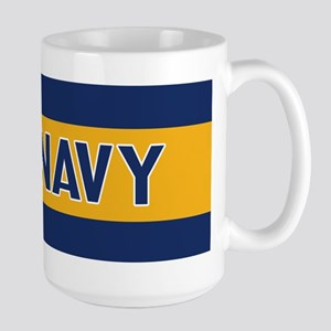 U.S. Navy: Fly Navy (Blue & Gold) Large Mug