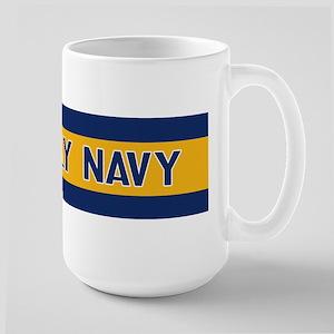 U.S. Navy: Fly Navy (Blue & Gold) Large Mug