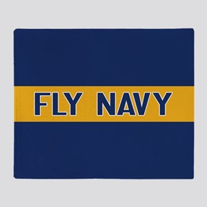 U.S. Navy: Fly Navy (Blue & Gold) Throw Blanket