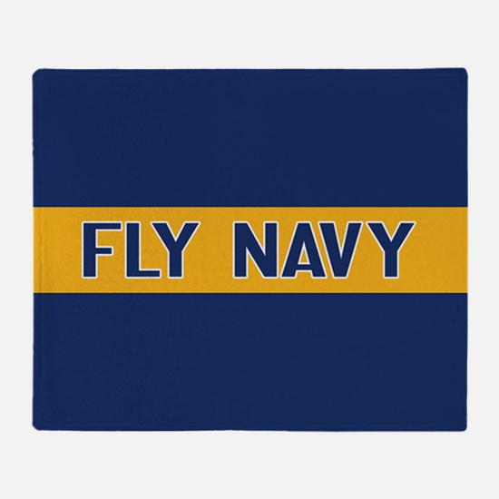 U.S. Navy: Fly Navy (Blue & Gold) Throw Blanket