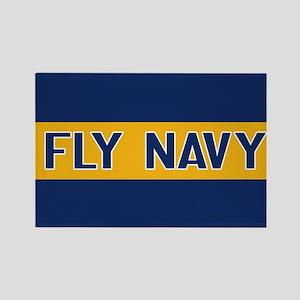 U.S. Navy: Fly Navy (Blue & Gold) Rectangle Magnet