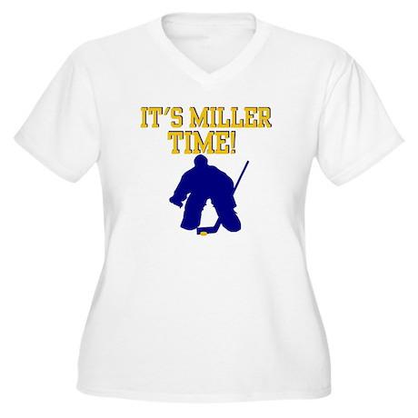 Miller Time Women's Plus Size V-Neck T-Shirt