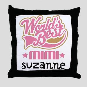 Personalized Mimi Grandma Gift Throw Pillow
