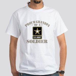 Proud U.S. Army Grandpa White T-Shirt