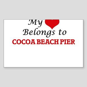 My Heart Belongs to Cocoa Beach Pier Flori Sticker
