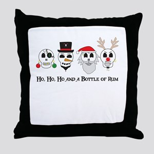 Christmas Pirates Throw Pillow