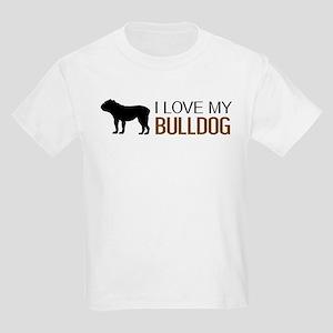 Dogs: I Love My Bulldog Kids Light T-Shirt