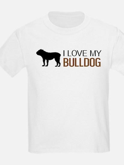Dogs: I Love My Bulldog T-Shirt