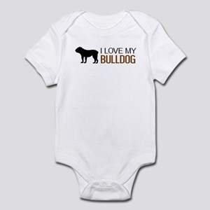 Dogs: I Love My Bulldog Infant Bodysuit