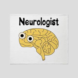 Neurologist Brain Throw Blanket