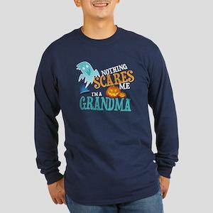 Grandma Halloween Long Sleeve Dark T-Shirt