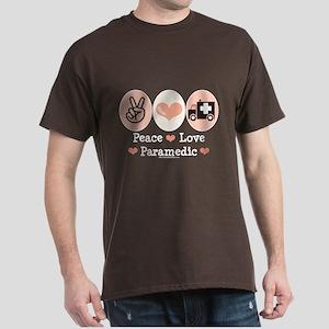 Peace Love Paramedic EMT Dark T-Shirt