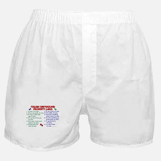 Italian Greyhound Property Laws 2 Boxer Shorts