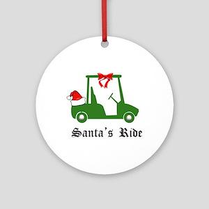 Santa's Golf Ride - Ornament (Round)