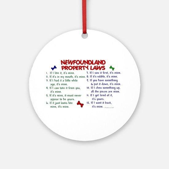 Newfoundland Property Laws 2 Ornament (Round)