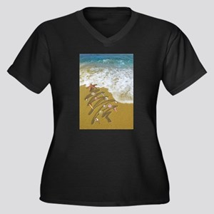 Christmas Seashells and Tree Was Plus Size T-Shirt