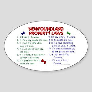 Newfoundland Property Laws 2 Oval Sticker