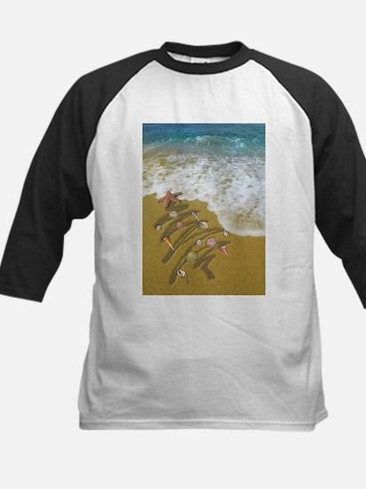 Christmas Seashells and Tree Washe Baseball Jersey