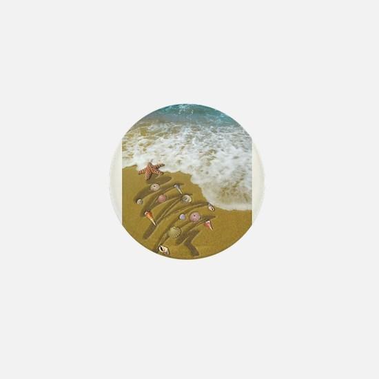 Christmas Seashells and Tre Mini Button (100 pack)