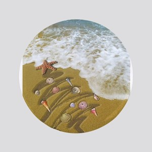 Christmas Seashells and Tree Washed Up on S Button