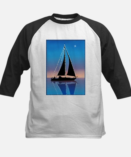 Sails at Sunset Sailboat Silhouett Baseball Jersey