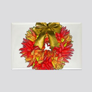 Southwestern Wreath of Chile Peppers with Magnets