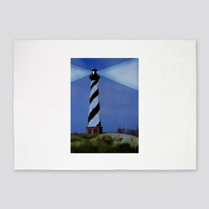Cape Hatteras Light House with Chri 5'x7'Area Rug