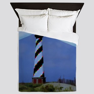 Cape Hatteras Light House with Christm Queen Duvet
