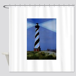 Cape Hatteras Light House with Chri Shower Curtain