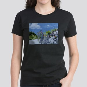 Beach Dune and Fence with Xmas Lights at E T-Shirt