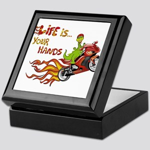 dragon life is in your hands Keepsake Box