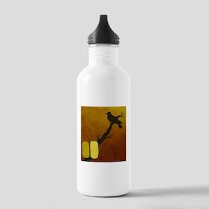 Meditation Crow Water Bottle