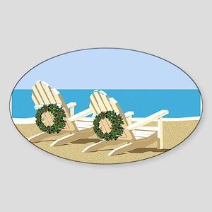 Beach Chairs with Wreaths Sticker