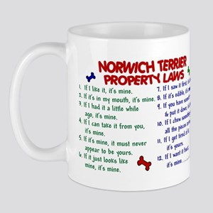 Norwich Terrier Property Laws 2 Mug