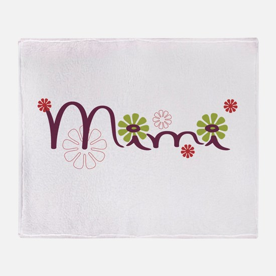 Mimi Flowers Throw Blanket