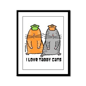 I Love Tabby Cats Framed Panel Print