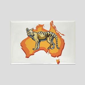 Wild Dingo Rectangle Magnet