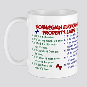 Norwegian Elkhound Property Laws 2 Mug