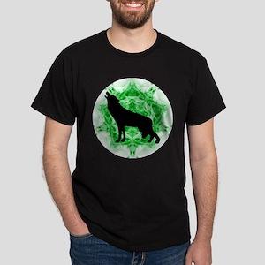 Howling Wolf - Green Dark T-Shirt