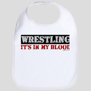 WRESTLING (IT'S IN MY BLOOD) Bib