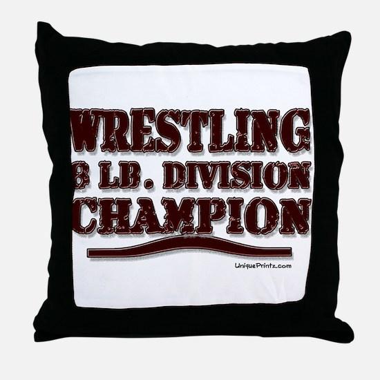 WRESTLING 8 LB. CHAMPION Throw Pillow