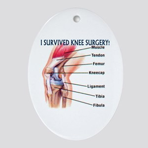 Knee Surgery Gift 6 Oval Ornament