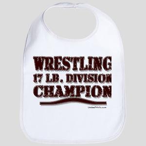 WRESTLING 17 LB. CHAMPION Bib