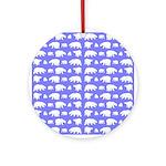 Polar Bear Pattern Round Ornament