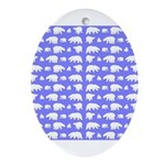 Polar Bear Pattern Oval Ornament