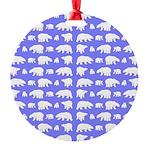Polar Bear Pattern Ornament