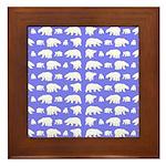 Polar Bear Pattern Framed Tile