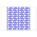 Polar Bear Pattern Posters