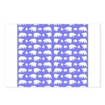 Polar Bear Pattern Postcards (Package of 8)