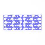 Polar Bear Pattern Aluminum License Plate